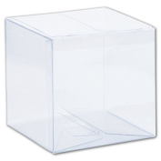 Deluxe Small Business Sales G-03 4 x 10cm x 10cm . One-Piece Boxes Clear