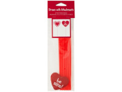Bulk Buys PB497-48 Valentines Day Straws With Heart Attachments