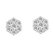 Luis Creations ERL1188K-200 2.00 Ct. Diamond Cluster Earrings In 14K Gold