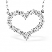 Luis Creations PRL1290-336 3.36 Ct. Diamond Heart Shape Pendant Shared Prong Setting 14K Gold With 41cm . Chain