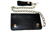 Leather In Chicago LICWB1-P Bifold Chain Wallet 15cm x 8.9cm . Plain