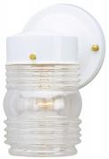 Westinghouse Lighting 6687800 White Jelly Jar Design Light Fixture