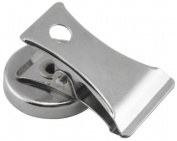 Master Magnetics Inc 07219 2 Count 2.5cm . Chrome Plated Magnet With Clip