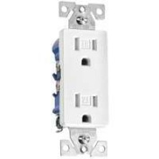 Cooper Wiring TR1107W Tamper Resistant Decorator Receptacle White