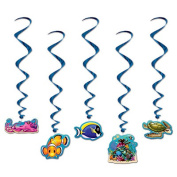 Beistle 54588 Under The Sea Whirls Pack Of 6