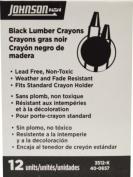 Johnson Level 3512-K Black Lumber Crayon - 12 - Box