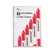 Johnson Level 3512-R Red Lumber Crayon - 12 - Box