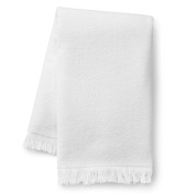Anvil T640 Fringed Hand Towel One Size White