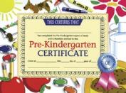 HAYES SCHOOL PUBLISHING H-VA499 CERTIFICATES PRE-KINDERGARTEN 36 PACK 8.5 X 1