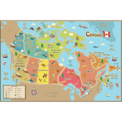 Brewster Home Fashions WPE1391 Kids Canada Dry Erase Map Decal - 60cm .