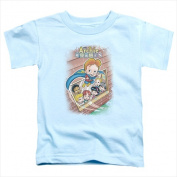 Archie Babies-Rainy Day Hero - Short Sleeve Toddler Tee Light Blue - Small 2T