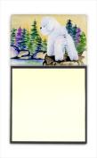 Carolines Treasures SS8010SN Bichon Frise Refiillable Sticky Note Holder or Postit Note Dispenser 7.6cm x 7.6cm .