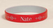 P. Graham Dunn 101232 Engravable Silicone Wrist Band - Red & Grey