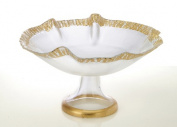 Classic Touch décor CP324G 30cm . Scalloped Bowl with Gold