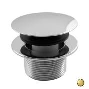 Westbrass D398R-01 3.8cm . Round Mushroom Tip Toe Bath Drain - PVD Polished Brass