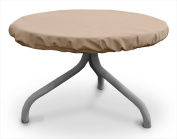 KoverRoos 41542 Weathermax 70cm . Round Table Top Cover Toast - 30 Dia in.