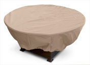 KoverRoos 43067 Weathermax Large Firepit Cover Toast - 45 Dia x 21 H in.