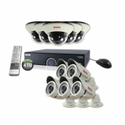 Revo America R165D5IB5I-4T 16-Channel 4TB 960H DVR Surveillance System With 10 1200TVL 30m Night Vision Cameras