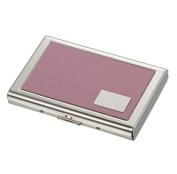 Visol V401B Delilah Pink Leather Credit Card Case