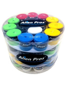Alien Pros Comfortable Tacky-feel Sweat-absorptive Durable 10 Colours Overgrips Pack of 60 Pieces