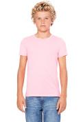 Bella 3001Y Youth Jersey Short Sleeve Tee - Neon Pink YL