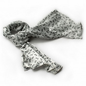 Blancho Bedding BRA-SCA01016-S Blancho White Lovely Bowknot Design Natural Elegant Silk Scarf/Wrap/ShawlSmall