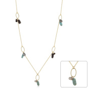 Kate Bissett N01241GW-V01 Golden Assorted Charms and Crystals Necklace