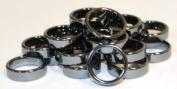 AzureGreen JRH116 6mm Flat Hematite Rings 20-Bag