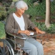 North Coast Medical NC94102 See-Thru Wheelchair Work Tray with Aluminium Lip