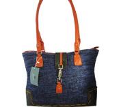 Aryana Ashlyn1blu Tote Bag With Top Zip Closure Shoulder Strap Blue