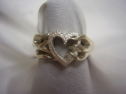 Hotrod Rocks HRR-005R Ladies Flaming Heart Ring Size 6