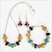 My Favourite Beads 135043 Pandora Style Mardi Gras New Orleans 3 Piece Set