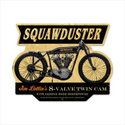 Past Time Signs FRC051 Squawduster Motorcycle Custom Metal Shape