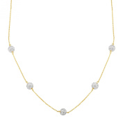 Crystaluxe Station Necklace with. Crystals in 10K Gold