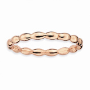 Stackable Expressions Sterling Silver Pink-Plated Rice Ring