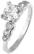 Doma Jewellery MAS02178-8 Sterling Silver Ring with Cubic Zirconia - Size 8