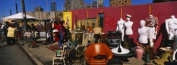 Panoramic Images PPI103542L Group of people in a flea market Hells Kitchen Manhattan New York City New York State USA Poster Print by Panoramic Images - 36 x 12