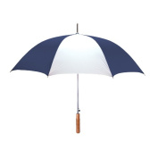 Peerless 2414IPR-Navy-White Stick Umbrella Navy And White