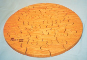 THE PUZZLE-MAN TOYS W-1300 Wooden Educational Jig Saw Puzzle - 46cm . Circle Red Oak Oiled