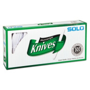 Solo Cups 827271 Mediumweight Plastic Cutlery Knives White 7 in 500/Carton