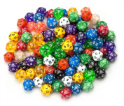 Bry Belly GDIC-1007 100 plus Pack of Random D20 Polyhedral Dice in Multiple Colour