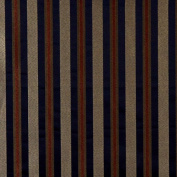 Designer Fabrics E624 140cm . Wide Striped Navy Blue Yellow And Green Damask Upholstery And Window Treatment Fabric