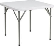 34 Square Granite White Plastic Folding Table [DAD-YCZ-86-GG]