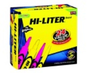 Avery Hi-Litre Non-Toxic Pen Style Highlighter Combo Value Pack Chisel Tip Assorted Colour Pack - 24