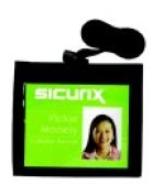 Sicurix Convention Identification Neck Pouch - 7.6cm x 10cm . - Black