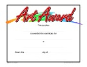 School Specialty Raised Print Art Recognition Nuline Award Pack - 25