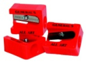 Generals Little Red All-Art 1-Hole Pencil Sharpener - Red Pack 18