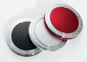 Brandon M-664SIL 5X Normal Compact Mirror Classic Pattern Silver