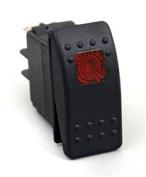 DAYSTAR KU80014 Multi Purpose Switch Push Button Switch 20 Amp Max Rocker Switch - Red