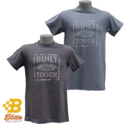 Brickels Racing Collectibles BDFMST125 -DNH-XXL Built Ford Tough Distressed Look Tee Denim Heather - 2X Large